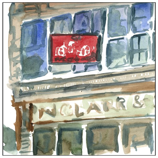 The Red Sign - 30x30 #3
