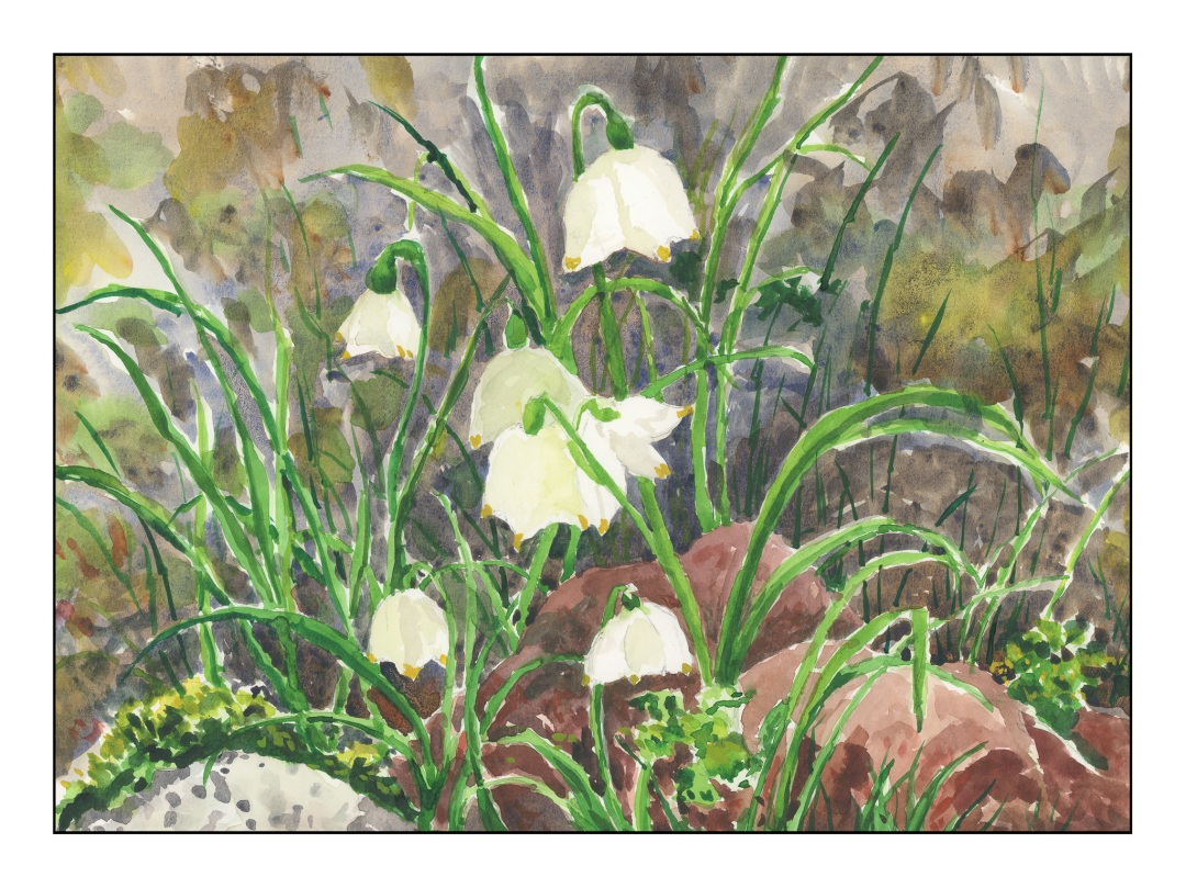 """Final version with whites """"defined"""" by various pale colors, as well as final overall rendering of the painting."""