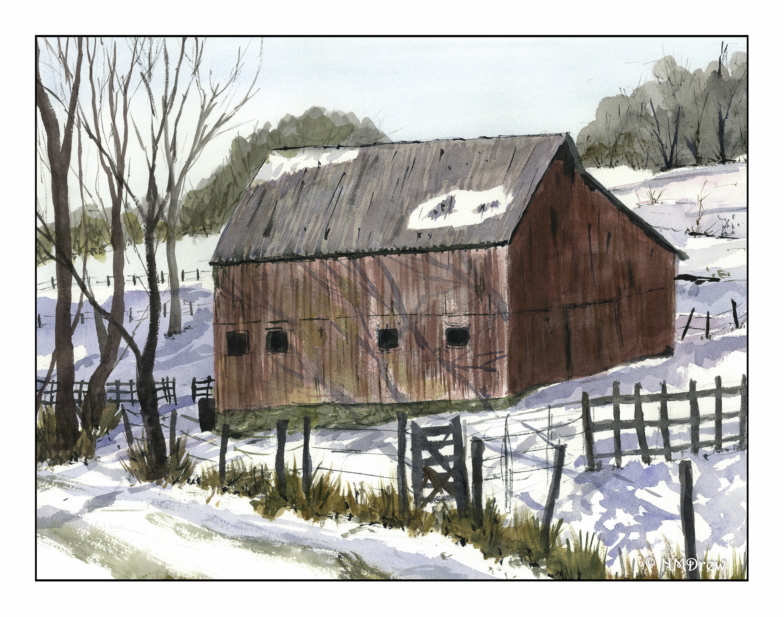 The Red Barn: A Matter of Perspective – Journey by Paper
